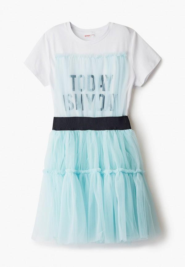 нарядные платье orby для девочки, голубое