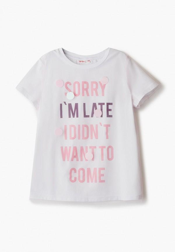 футболка с коротким рукавом orby для девочки, белая