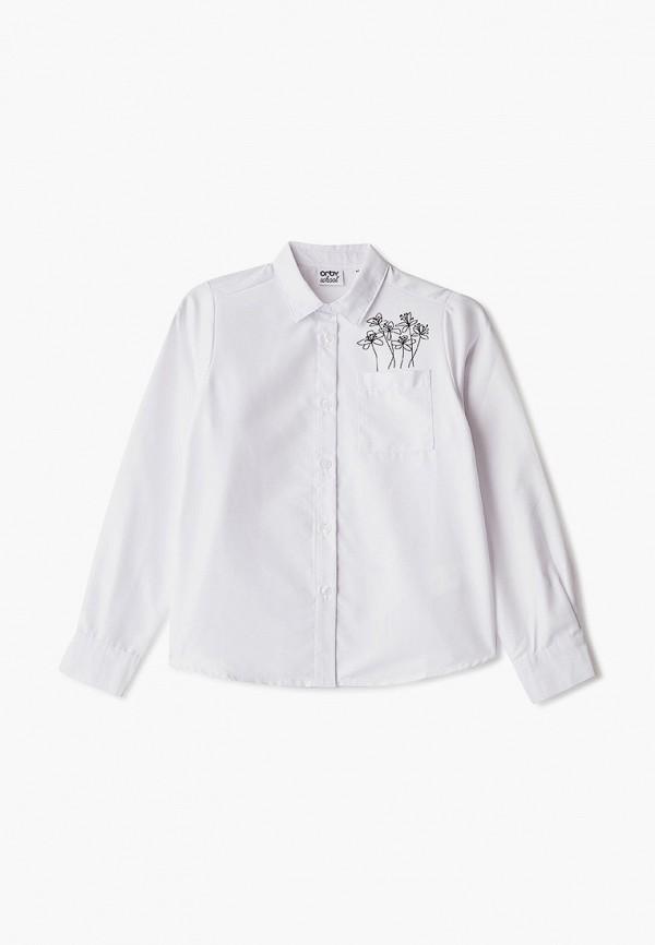 рубашка orby для девочки, белая