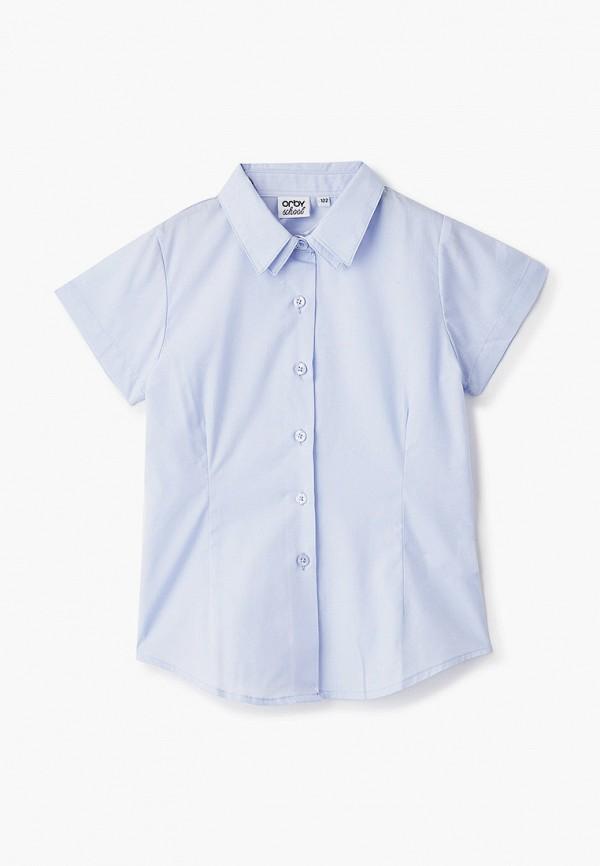 рубашка orby для девочки, голубая