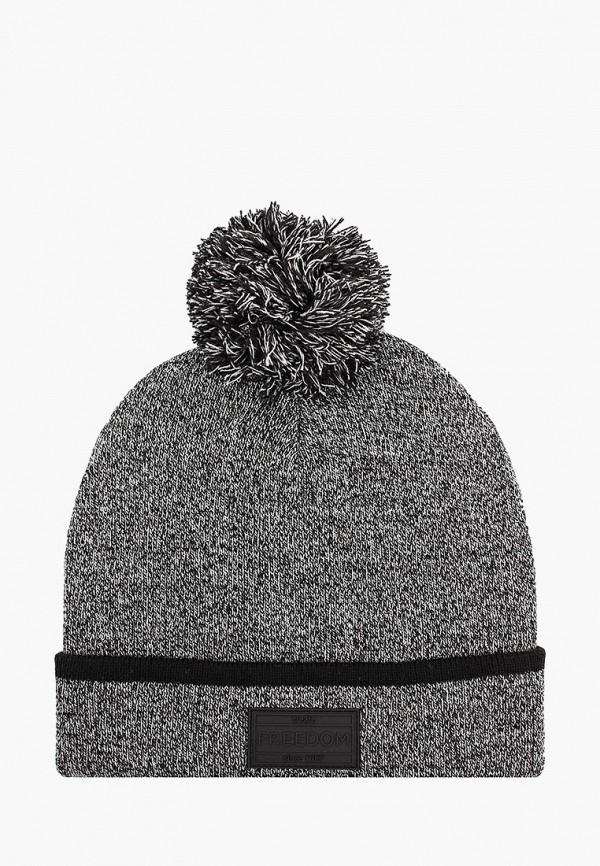 мужская шапка o'stin, серая