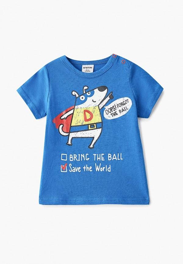 футболка с коротким рукавом o'stin для мальчика, синяя