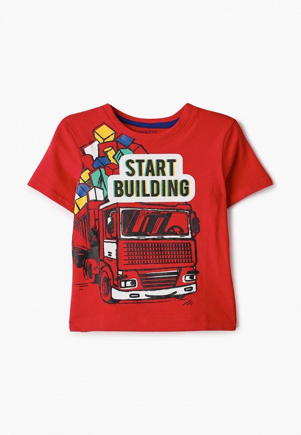 футболка с коротким рукавом o'stin для мальчика, красная