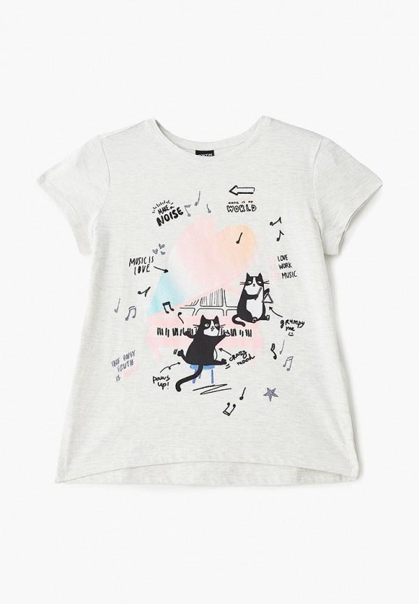 футболка с коротким рукавом o'stin для девочки, бежевая