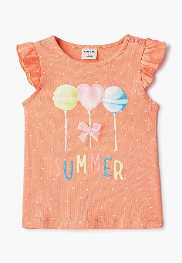 футболка с коротким рукавом o'stin для девочки