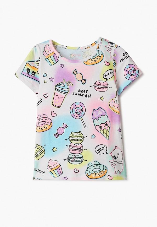 футболка с коротким рукавом o'stin для девочки, красная