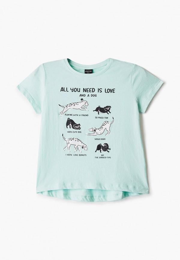 футболка с коротким рукавом o'stin для девочки, зеленая