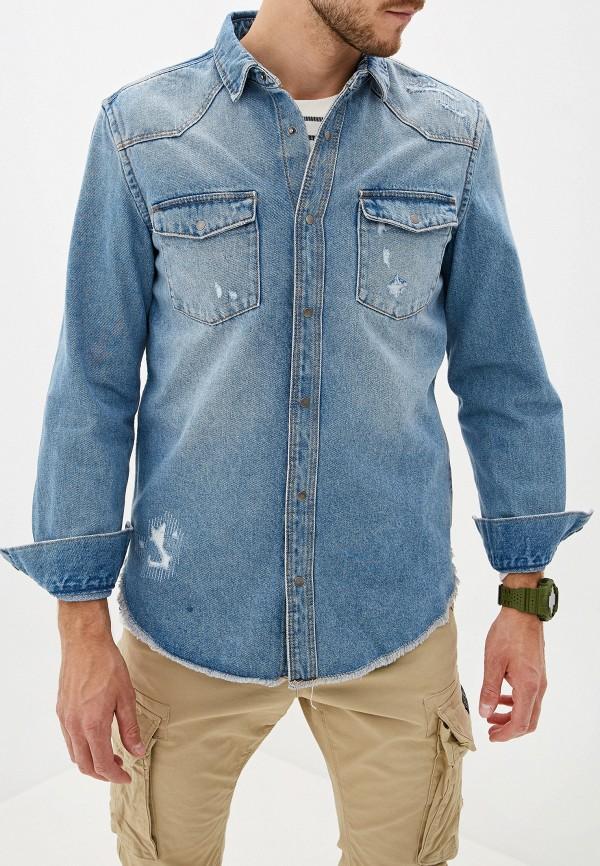 Рубашка джинсовая O'stin O'stin OS004EMGBYW8 fu shen virtue основной цвет тяжелой воды мыть чистого хлопка тонкая джинсовая рубашка мужской ycf71013 синий 42 175 100