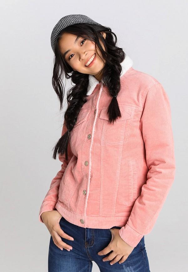 женская куртка o'stin, розовая