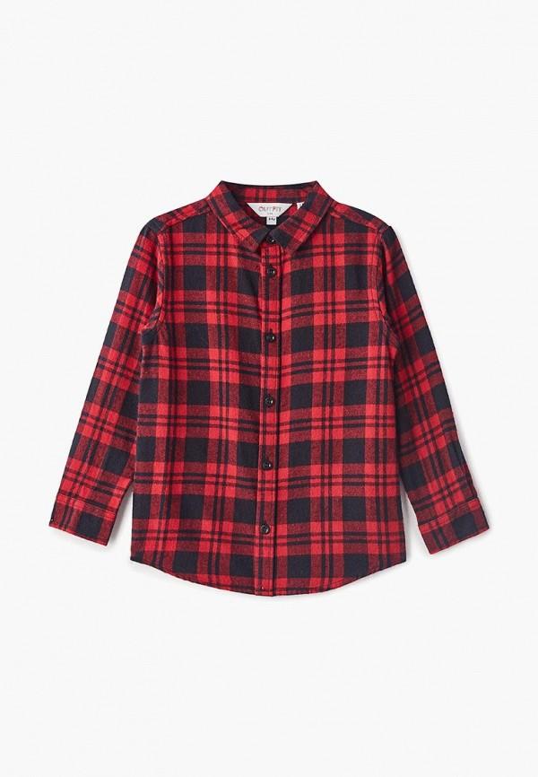 рубашка outfit kids для мальчика, красная