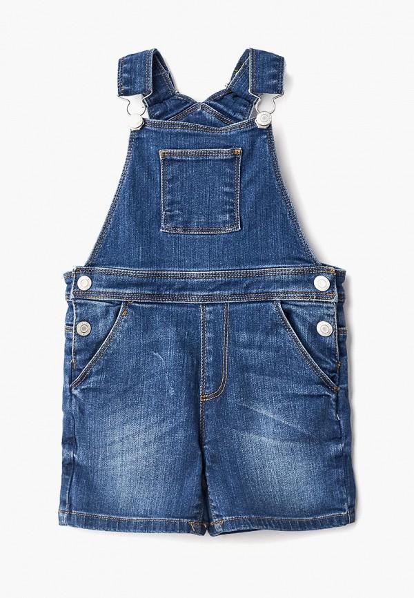 Фото - Комбинезон джинсовый Outfit Kids синего цвета