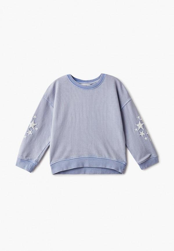 свитшот outfit kids для девочки, синий