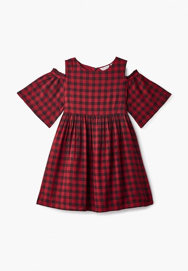 повседневные платье outfit kids для девочки, красное