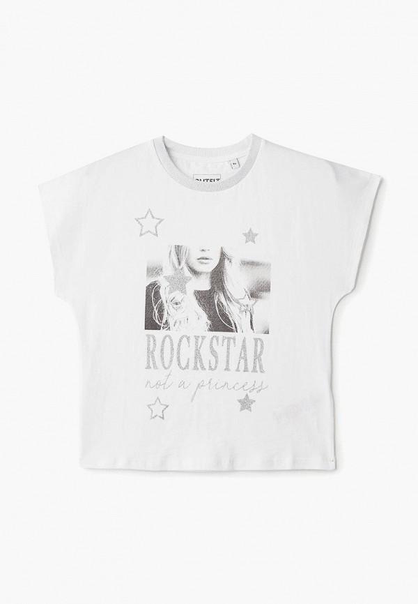 футболка с коротким рукавом outfit kids для девочки, белая