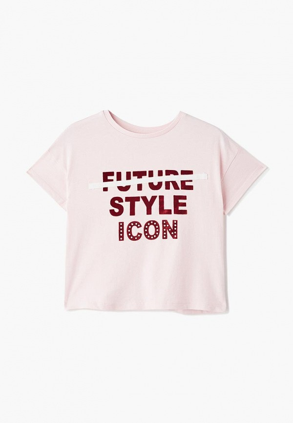 футболка с коротким рукавом outfit kids для девочки, розовая