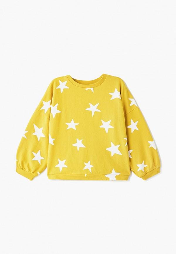 свитшот outfit kids для девочки, желтый