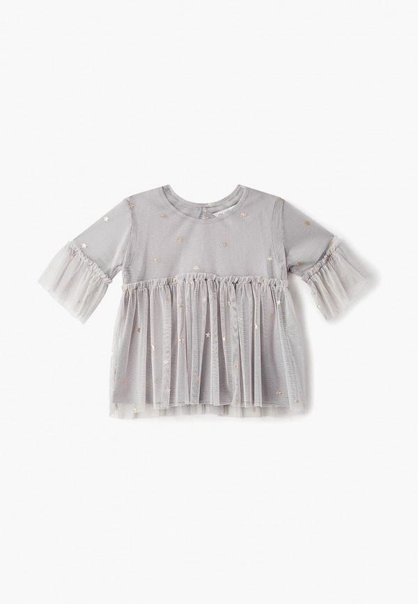 блузка outfit kids для девочки, серая