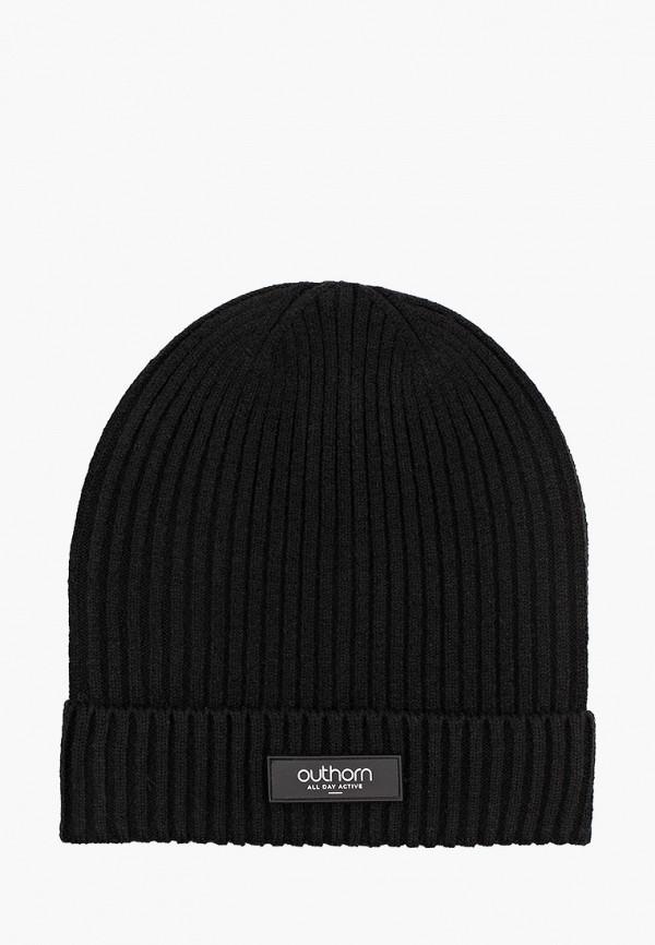 мужская шапка outhorn, черная