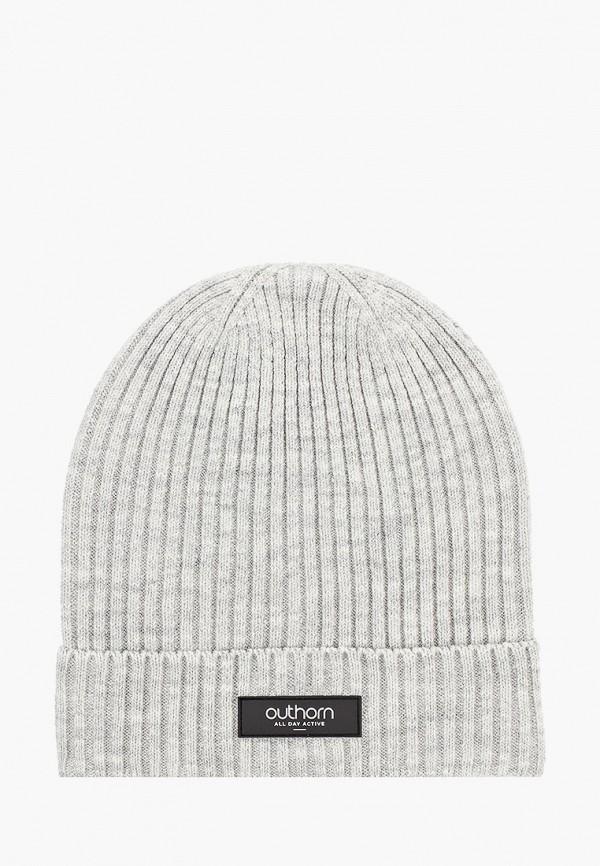 мужская шапка outhorn, серая