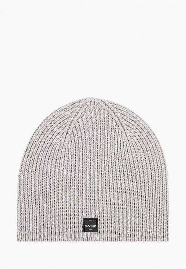 женская шапка outhorn, серая