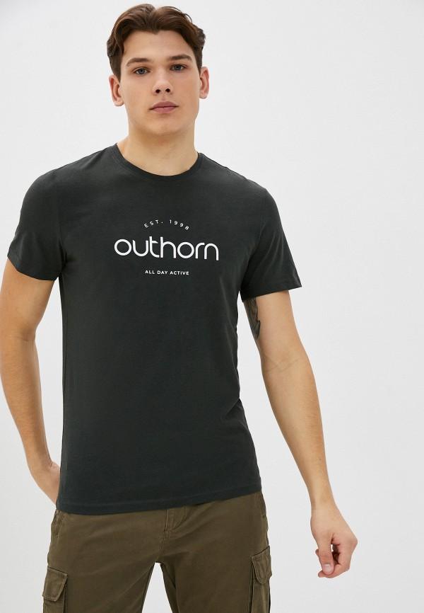 мужская спортивные футболка outhorn, зеленая