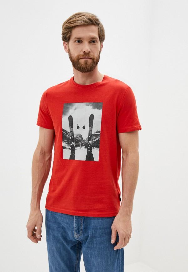 мужская спортивные футболка outhorn, красная