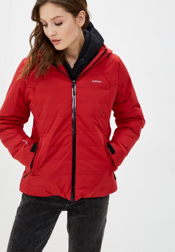 женская куртка outhorn, красная