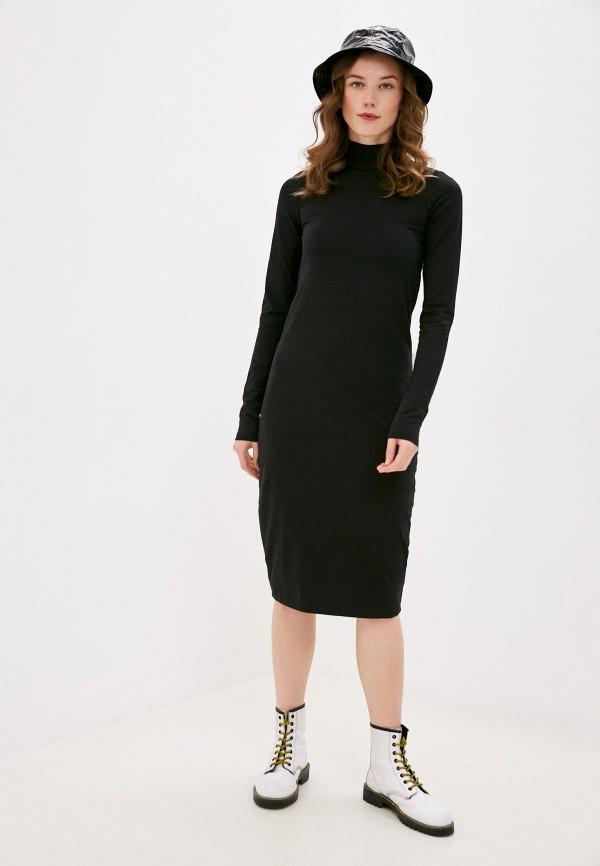 женское спортивные платье outhorn, черное