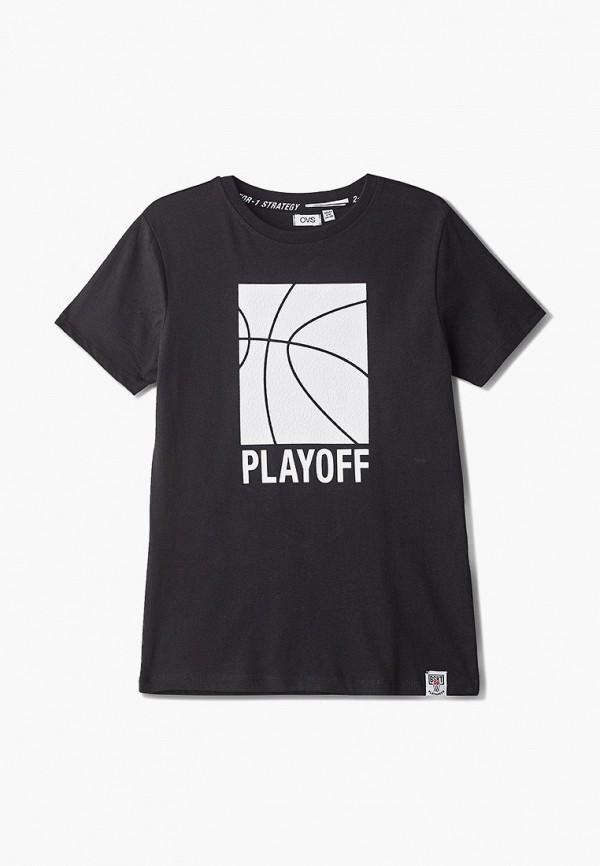 футболка с коротким рукавом ovs для мальчика, черная