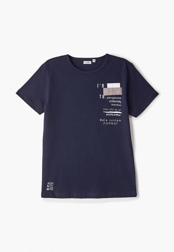футболка ovs для мальчика, синяя