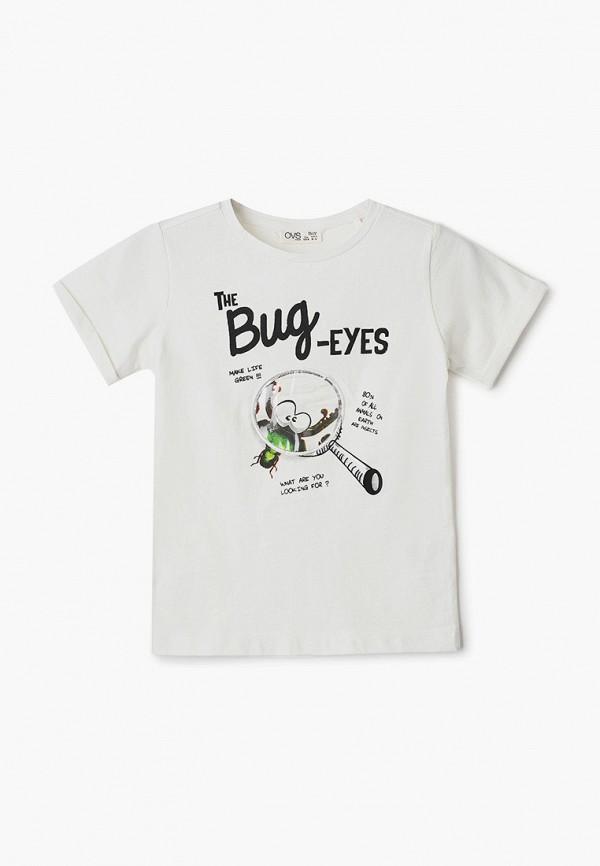 футболка с коротким рукавом ovs для мальчика, белая