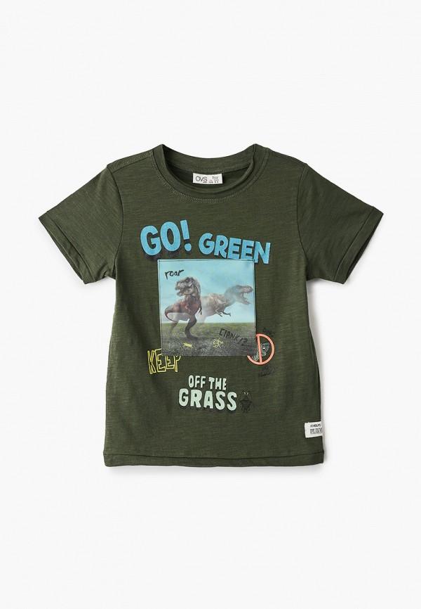 футболка с коротким рукавом ovs для мальчика, зеленая