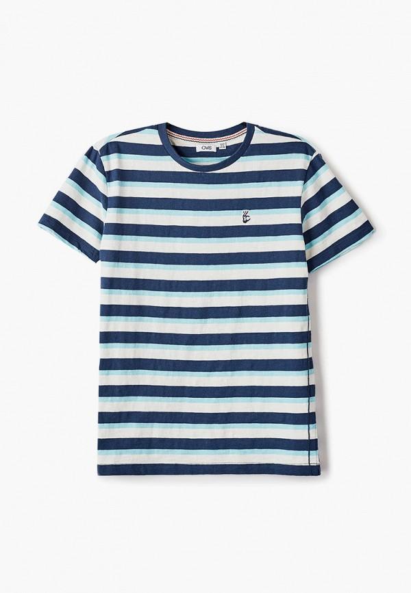 футболка с коротким рукавом ovs для мальчика, синяя