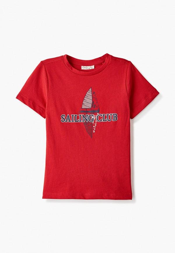 футболка с коротким рукавом ovs для мальчика, красная
