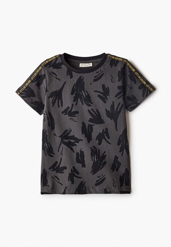 футболка с коротким рукавом ovs для мальчика, серая