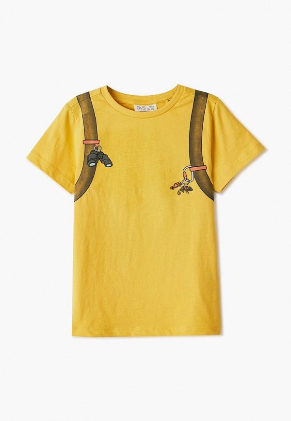 футболка с коротким рукавом ovs для мальчика, желтая