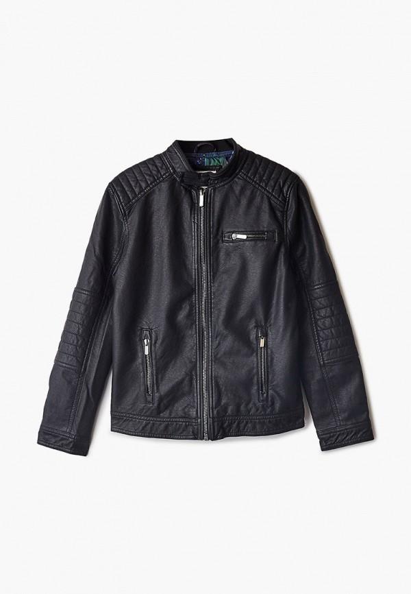 кожаные куртка ovs для мальчика, черная