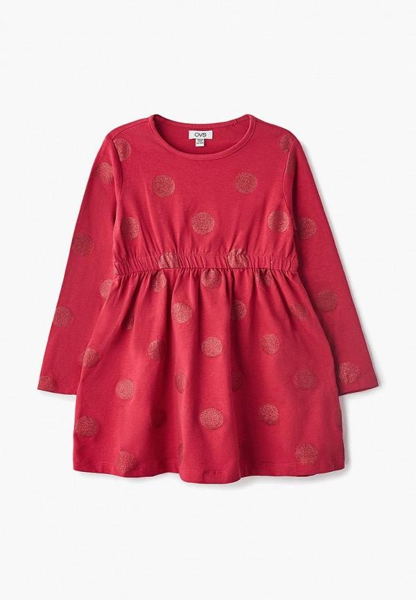 Купить Платье OVS, ov001egchck8, бордовый, Весна-лето 2019