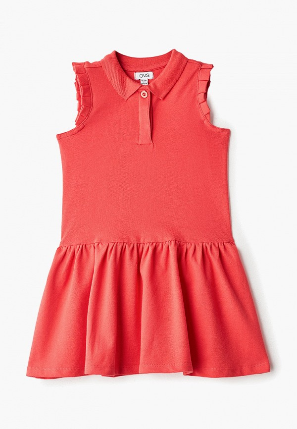 повседневные платье ovs для девочки, красное