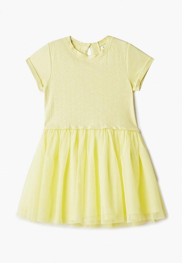 повседневные платье ovs для девочки, желтое