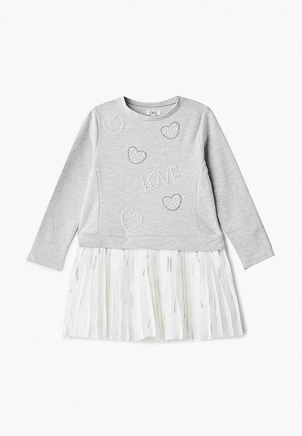 повседневные платье ovs для девочки, серое