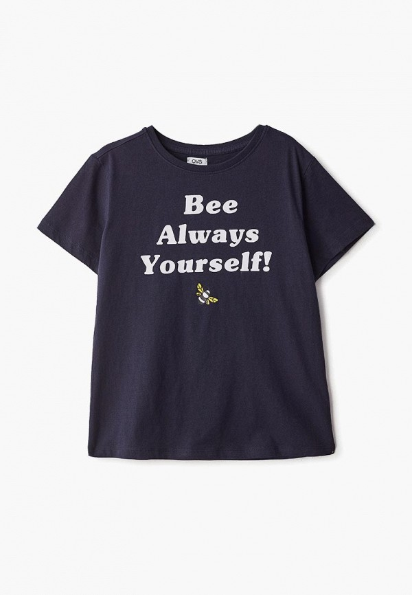 футболка с коротким рукавом ovs для девочки, синяя