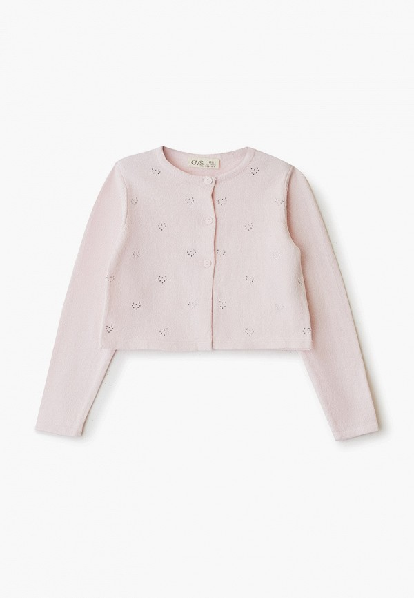 кардиган ovs для девочки, розовый