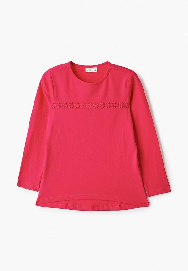 лонгслив ovs для девочки, розовый