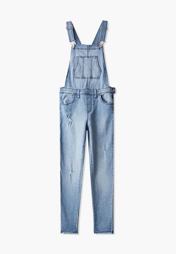 джинсовые комбинезон ovs для девочки, голубой
