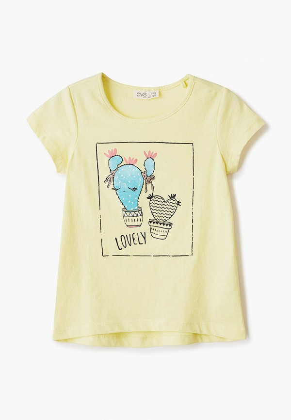 футболка с коротким рукавом ovs для девочки, желтая