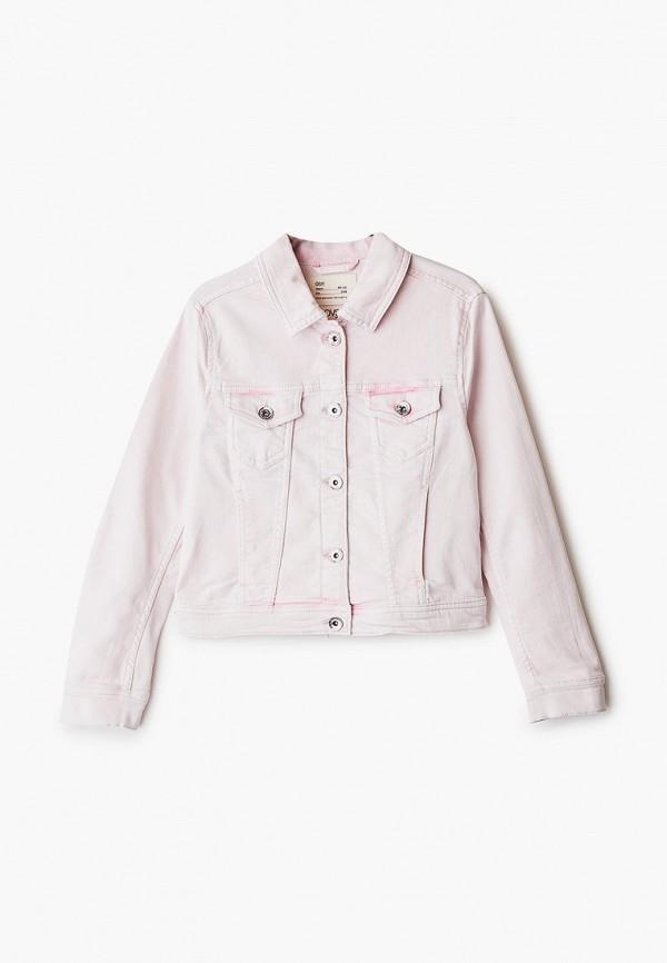 джинсовые куртка ovs для девочки, розовая