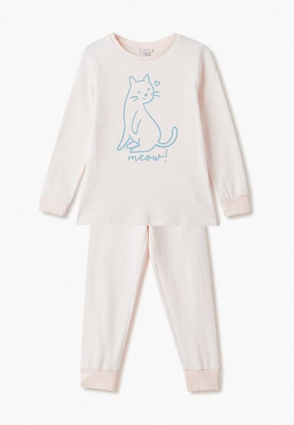 пижама ovs для девочки, розовая
