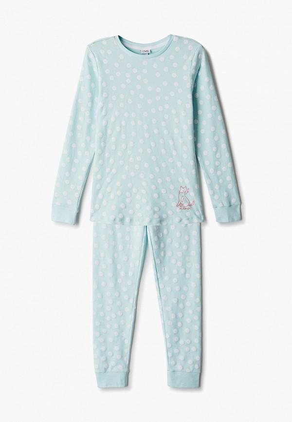 пижама ovs для девочки, бирюзовая