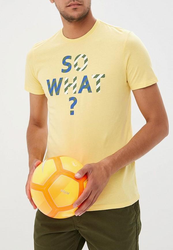 Футболка  желтый цвета